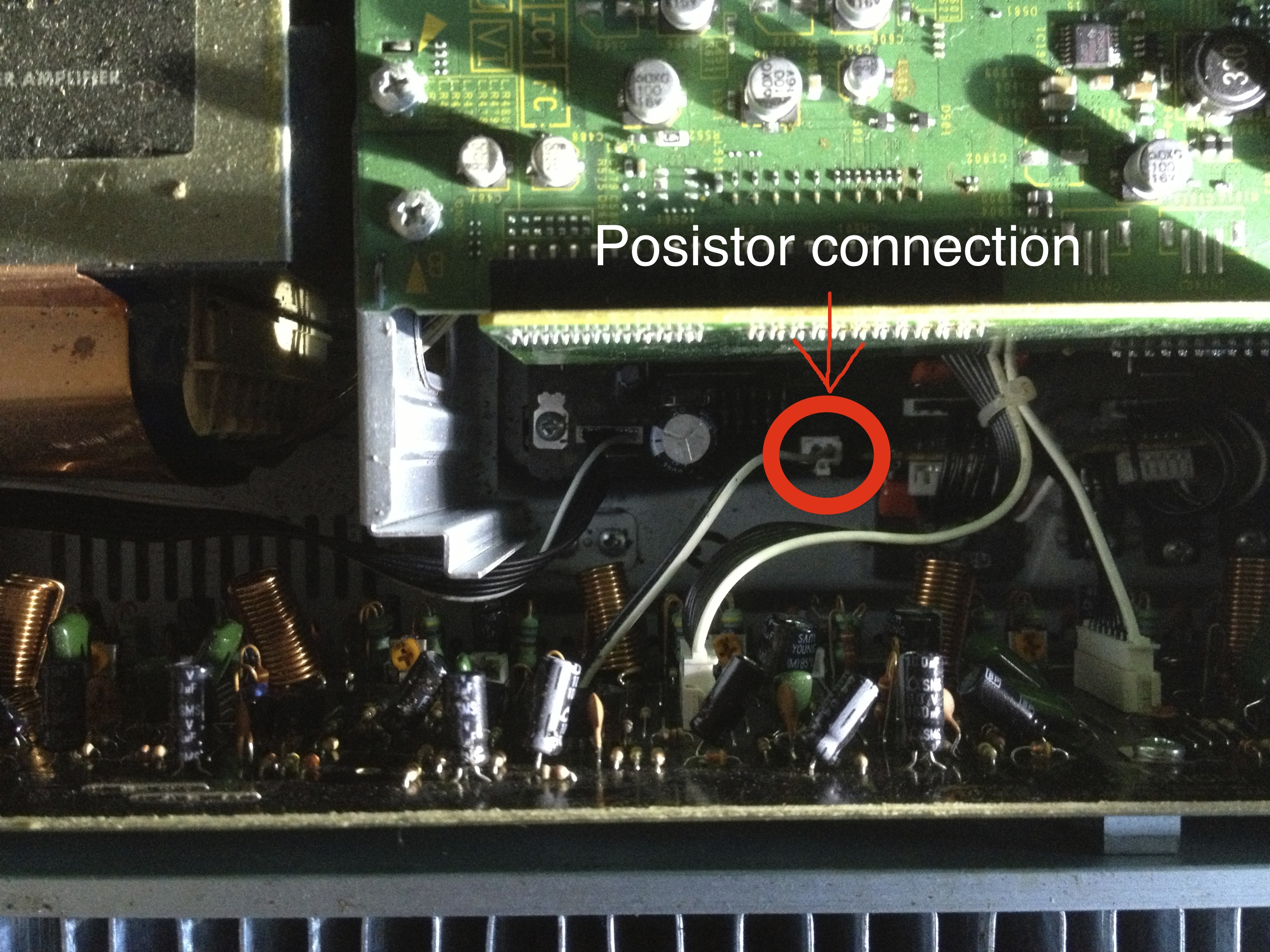 posistor connection