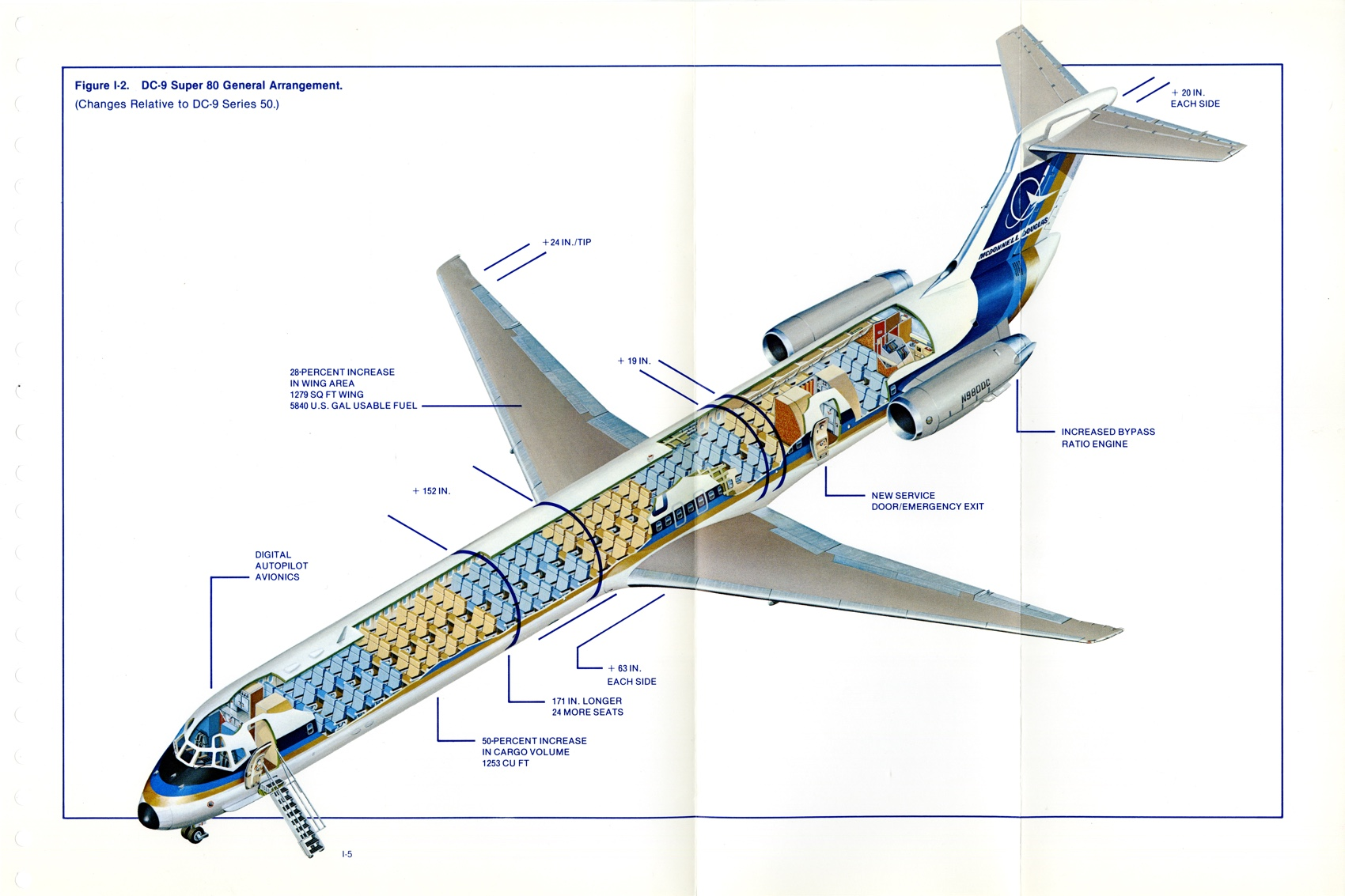 Cutaway view of DC-9 Super 80