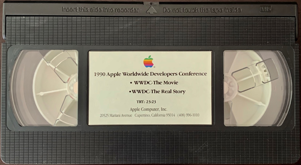 WWDC 1990 VHS tape
